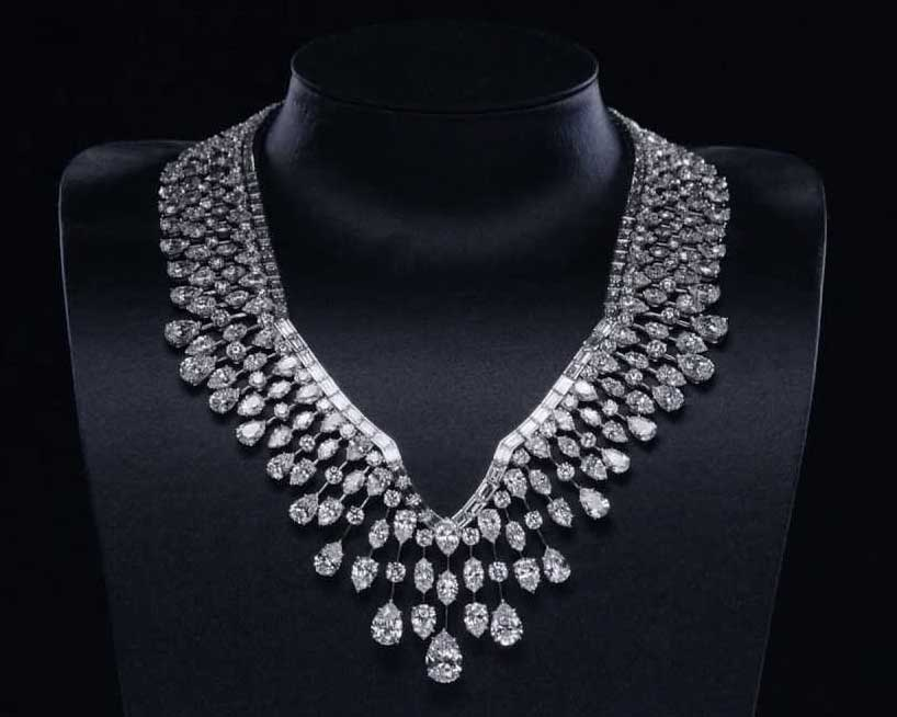 product heavy colored detail crystal multi buy big diamond necklace luxury