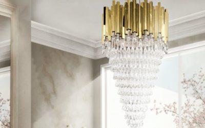 Lámparas modernas Luxxu – 5 candelabros de oro con cristales para iluminar tu mundo