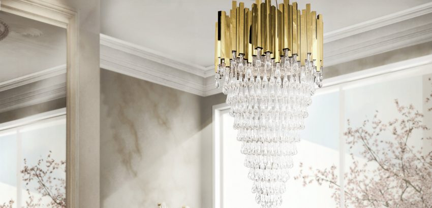 Luxxu Modern Lamps – 5 Gold chandeliers with crystals to light up your world